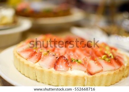 Selective Focus Strawberry Pie