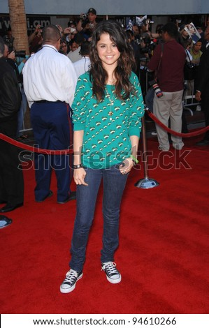 "Selena Gomez at the world premiere of ""The Game Plan"" at the El Capitan Theatre, Hollywood. September 23, 2007  Los Angeles, CA Picture: Paul Smith / Featureflash - stock photo"