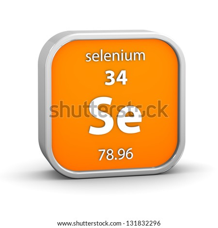 Selenium material on the periodic table. Part of a series. - stock photo