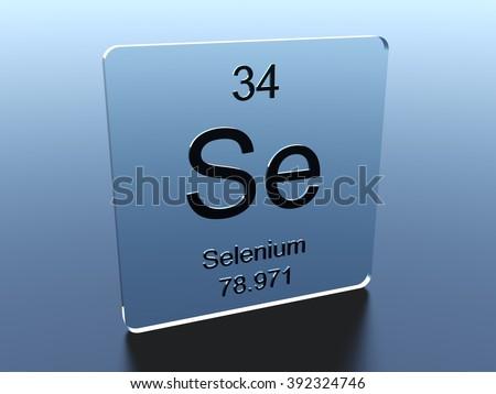 Selenium symbol on a glass square - stock photo
