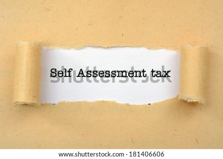 Self assessment tax - stock photo