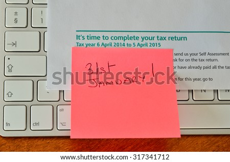 Self assessment tax return reminder