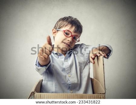 Self-confident little boy  - stock photo