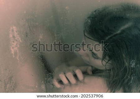 Self-hatred concept abstract creative expression. - stock photo