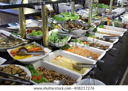 Self serfice food - stock photo