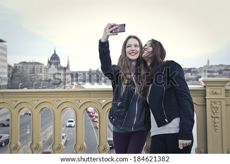 selfie - stock photo