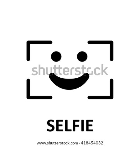 Selfie. symbol - stock photo