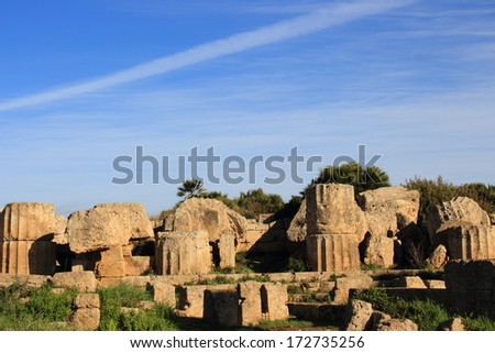 selinunte acropolis and fortified walls ancient Greek city situated on the southwestern coast of Sicily