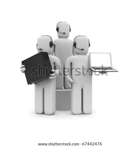 Sell and service - stock photo