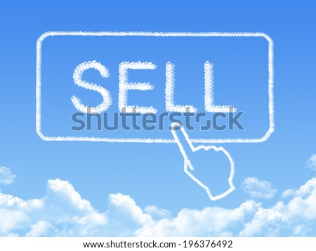 sell message cloud shape - stock photo