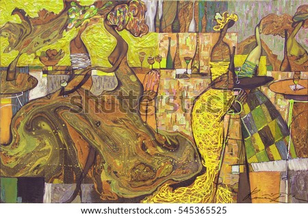 Selling Original Pictures Personally Author Roman Stock Illustration ...