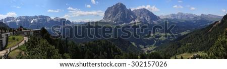 Selva di Val Gardena - stock photo