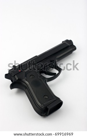 semi automatic handgun - stock photo