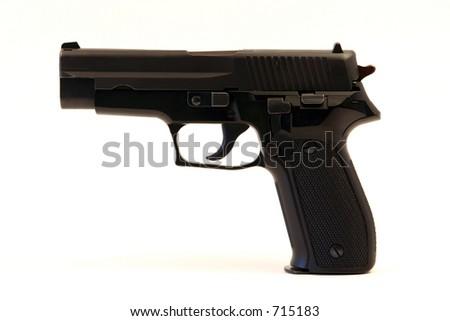 semi-automatic handgun - stock photo