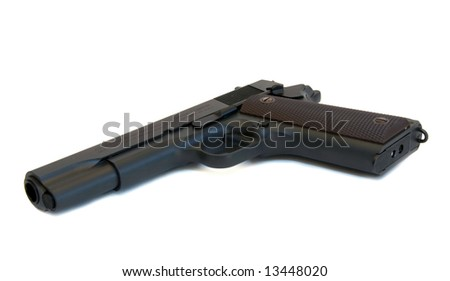 Semi-automatic pistol.