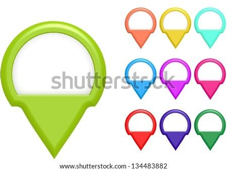 Semi circle markers - stock photo