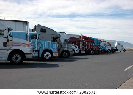 Semi lineup - stock photo