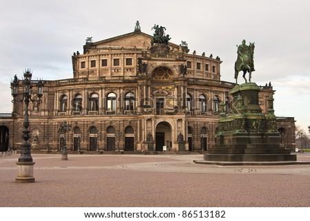 Semperoper, Dresden, Germany - stock photo