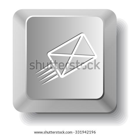 send mail. Raster computer key. - stock photo