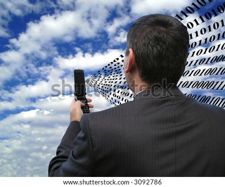 Sending patched code - stock photo