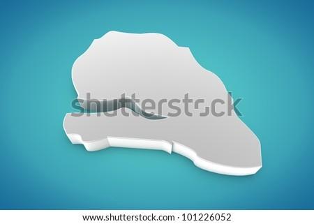 Senegal Map - stock photo