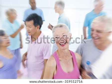 Senior Adult Healthy People Fitness Training Concept - stock photo