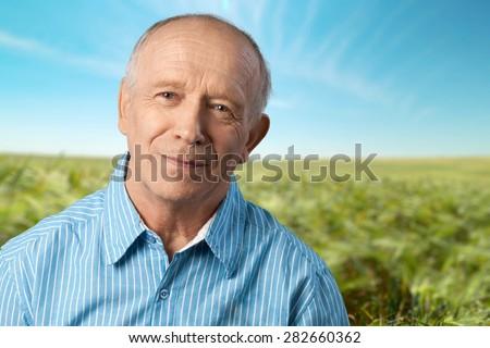 Senior Adult, Men, Depression. - stock photo