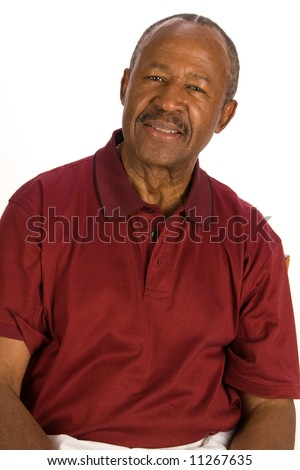 Senior African American man. - stock photo
