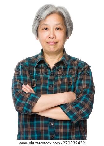 Senior asian woman - stock photo