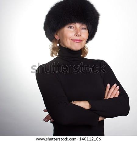 Senior beauty - stock photo