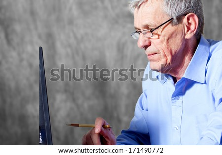 Senior business man - stock photo