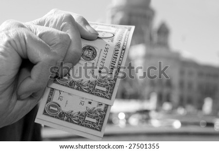 Senior by the State House - stock photo