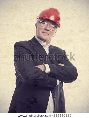 senior cool man architect - stock photo
