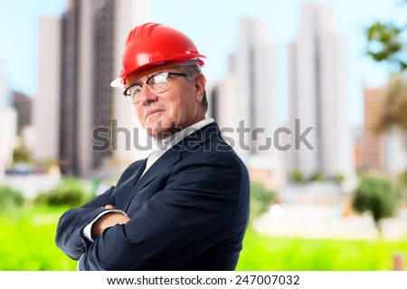 senior cool man architect - stock photo