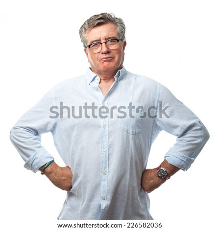 senior cool man proud concept - stock photo