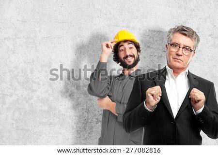 senior cool man proud concept - stock photo