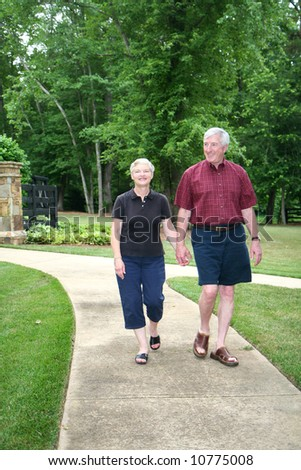 Senior couple enjoying the outdoors