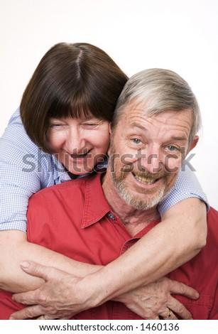 Senior couple 2, happy - stock photo