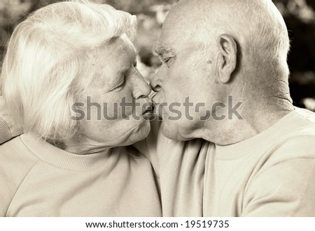 Senior couple in love - stock photo