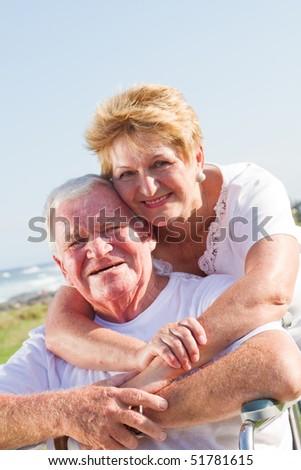 senior couple love - stock photo
