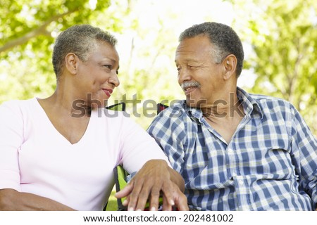Senior  couple romantic portrait - stock photo