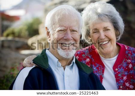 Senior Couple Smiling - stock photo