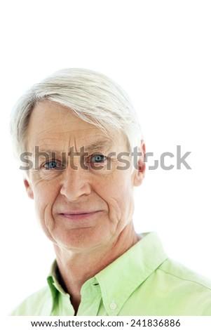 senior man. close up portrait - stock photo