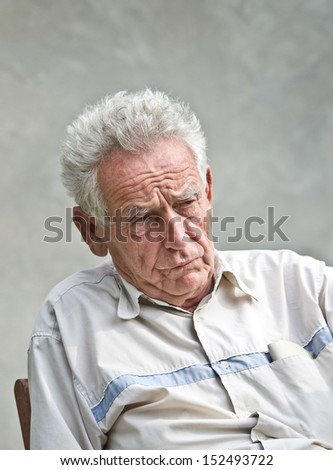 Senior man does not feel well - stock photo