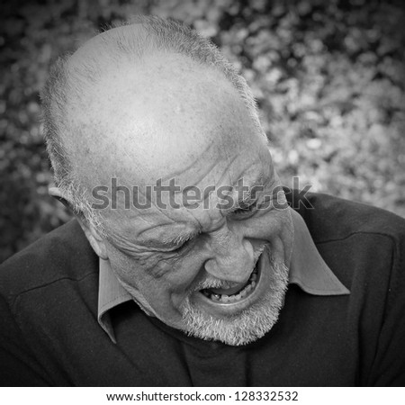 Senior man in pain - stock photo