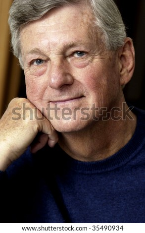 senior man portrait - stock photo