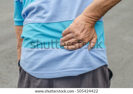 Senior man with back pain