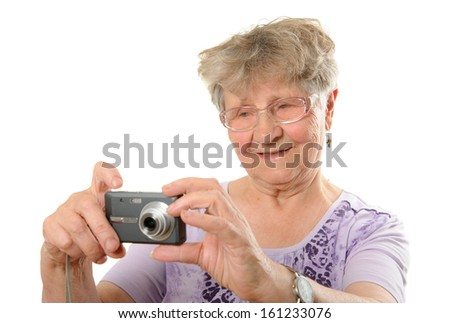 Senior photographer - stock photo