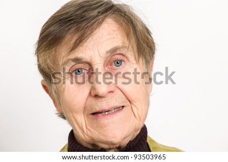 Senior Woman - Close Up Portrait - stock photo