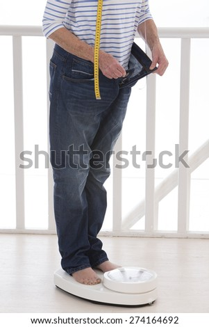 Senior woman in dieting concept - stock photo